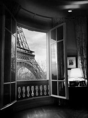 Eiffel in the Window by Jean Michel Berts