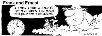 Free Range Human Cartoon